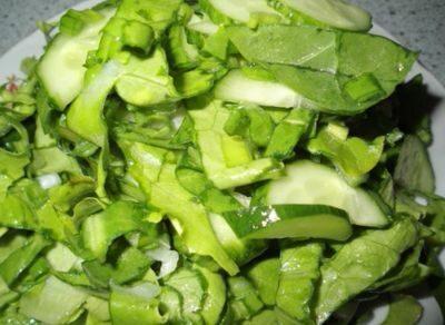 Диетический зеленый салат 2016