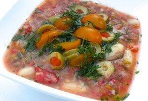 Диетический суп с помидорами