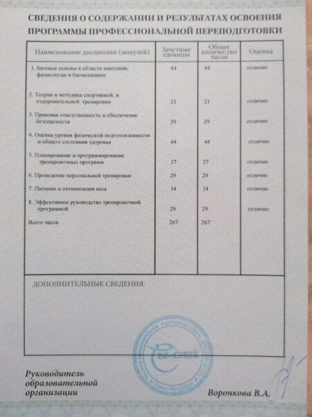 Сертификаты Екатерины
