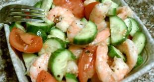 Салат легкий с креветками 2016