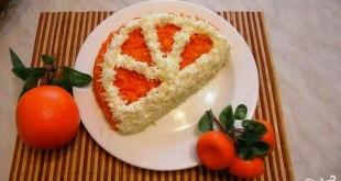 """Салат """"Апельсиновая долька"""" рецепт с пошаговым фото"""