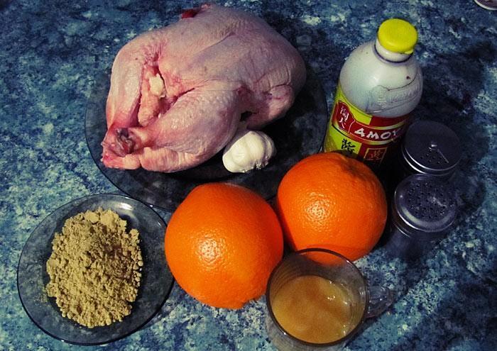 Курица в апельсиновом маринаде в духовке