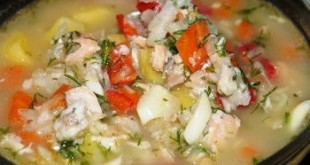 Суп рыбный с добавлением сельдерея