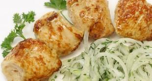 Шашлык из филе курицы на шпажках