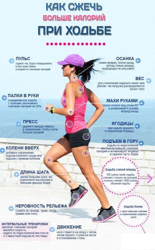 Сколько калорий тратится при ходьбе пешком за 1 км